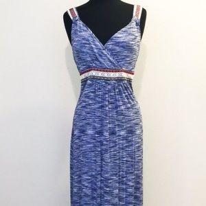 Cable & Gauge Sleeveless Maxi Dress Size M Blue